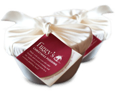 A medium wrapped Figgy's Christmas pudding